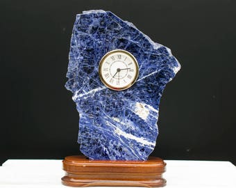 Decorative Blue Sodalite Clock