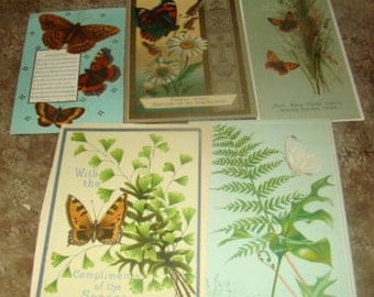 6 Pieces of Victorian Scrap (Butterflies)