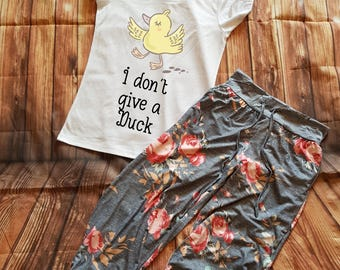 Don't Give A Duck Pyjama Set, Funny Duck Pyjamas, Duck Gift, Gift For Her, Birthday Gift, Funny Duck PJs, Funny Pajamas