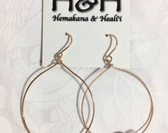 HANDMADE 14k rose gold filled earrings