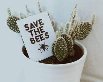 Save the Bees Vinyl Sticker