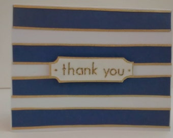 Nautical Stripes Thank You card