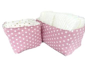 gift set, basket baby baskets for the changing table, diaper basket, storage basket, fabric basket