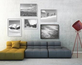 Nature Printable Wall Decor Set, Modern Nature Art Prints Set, Photo Gallery Wall, Modern Wall Arranging, Extra Large Living Room Wall Decor