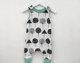 Baby all in one romper, Thick fabric romper, baby bodysuit, jersey knit fabric, baby boy clothes,baby girl clothes, spring baby outfit, gift