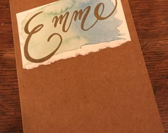 Customized Calligraphy Name Notecard