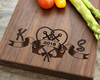 Personalized Cheese Board, Serving Board, Bread Board, Custom, Engraved, Wedding Gift, Housewarming Gift, Anniversary Gift, Engagement #10