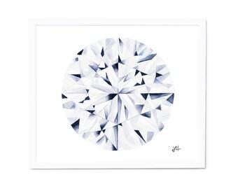 12x12 Watercolor Diamond Painting, Wall Art, Watercolor Painting, Abstract Painting, Art Prints, Giclee Print