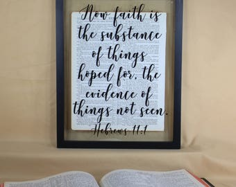 Faith, Faith Wall Art, Faith Wall Sign, Faith Sign, Faith Art, Faith Decor, Faith Home Decor, Faith Verses, Hebrews 11 1, Hebrews 11 1 Sign