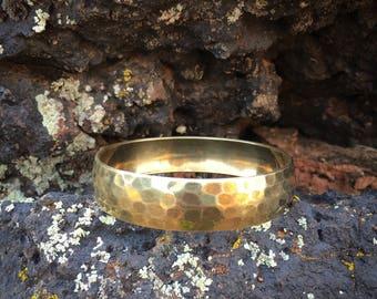 Vintage Hammered Solid Brass Bangle | Brass Boho Stacking Bracelet | Solid Brass Bangle Bracelet