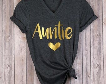 Auntie Shirt - Aunt Shirt - Shirt For Aunt - Shirt For Auntie - Aunt Annoucement Shirt - Auntie Baby Reveal - Gift For Aunt - New Aunt Shirt