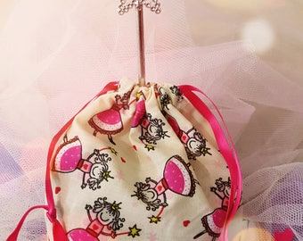 Princess Pre-filled Fabric Drawstring Party Bag