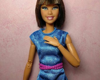 Nina - OOAK Rerooted 1/6 scale, SUPER articulated 11 1/2 inch fashion doll