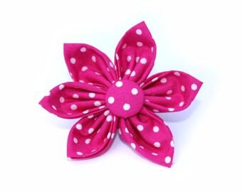 Pink Polkadot Flower