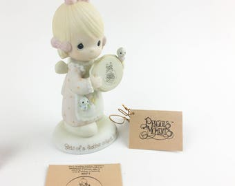 Vintage Precious Moments Birds Of A Feather Collect Together Charter Member 1981 Figurine E-0006