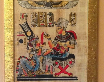Pharoah Tutankhamun and sister/wife Ankhesenamen