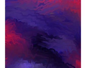 "Abstract Painting GICLÉE Art Print 8x12"" - Dark Forest - Home Decor, Wall Decor, Wall Art"