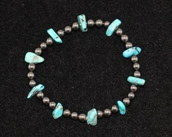 No. 3 Turquoise and Hematite Bracelet (Handmade)