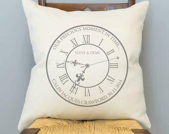 Personalised 'Our Precious Moment In Time' Cushion