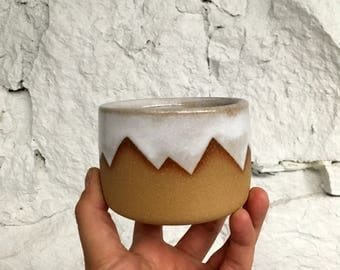 White Mountain Cups Handmade- Pottery - Ceramic - Small