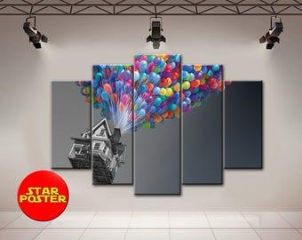 Movie Up, Up Canvas, Up Print, Disney Canvas, Pixar Canvas, Up