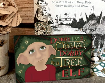 Dobby Christmas Print - inspired by Harry Potter - digital download