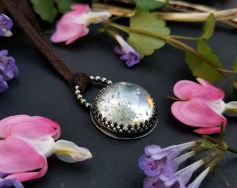 Crystal Ball Clear Quartz Pendant, Necklace