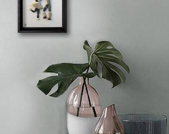 Pebble Art - Dancing Couple - Custom Couple Gift - Romantic Gift - Housewarming Gift - Wedding gift - 18x24 cm