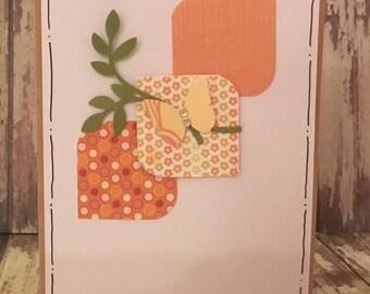 Blank Notecard, Thank You Card, 3D Card, Butterfly Notecard,