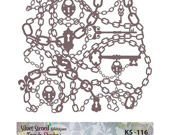 Stencil Masking, KS 116,  25x21 cm, mask stencils, fabric stencil.
