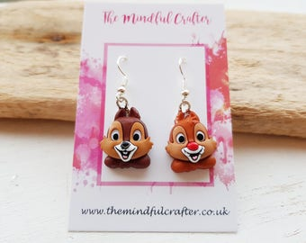 Disney jewellery Chip n dale earrings chip and dale jewellery. Disney earrings chipmunks chip n dale rescue rangers earrings chip n dale