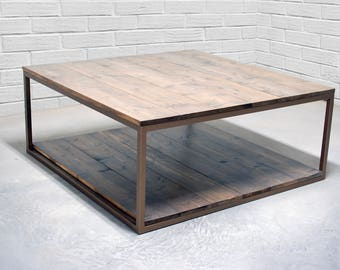 Beautiful Industrial Wood Coffee Table, Rustic Coffee Table, Farmhouse, Wood  Furniture, Contemporary Table