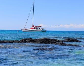 Boat in Kona Hawaii