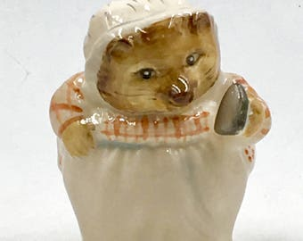 Precious Royal Doulton - Beatrix Potter - Mrs. Tiggy-Winkle Figurine - With Iron - 1st Edition Stamped 1948 - Collectible