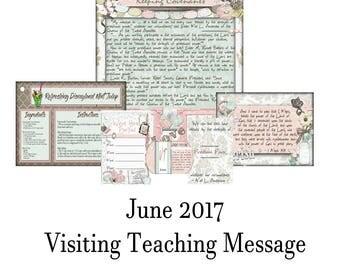 2017 June Visiting Teaching Message: Priesthood Power Through Keeping Covenants