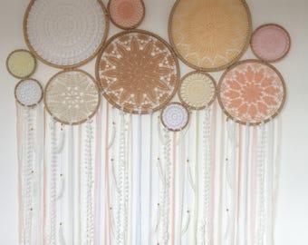 Crocheted Doily Wall Decor Set