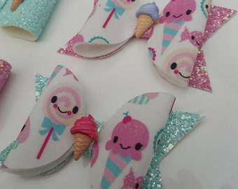 Ice cream hair bows