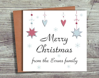 Personalised Christmas Cards Family, From the Family Cards, Free UK Shipping