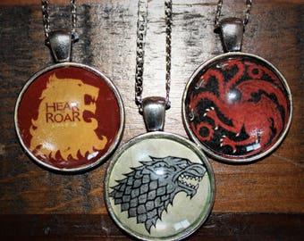 Game of Thrones House Sigil, Stark, Targaryen, Lannister