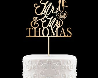 Customized Wedding Cake Topper, Personalized Cake Topper for Wedding, Custom Wedding Cake Topper, Mr and Mrs Cake Topper, Monogram topper 17