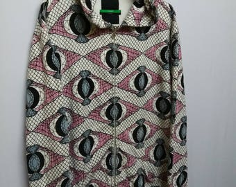 Vintage Swagger Sweatshirt Hoodies Full Print Abstract Size Adult L