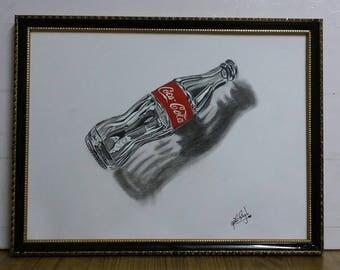 3D Coke Bottle With Frame