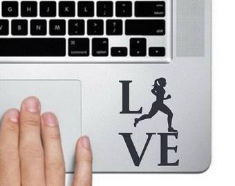 Love Running Decal, Love Running Stickers, Girl Running Decal, Girl Running Stickers, Jogging Decals, Jogging Stickers, Running Stickers