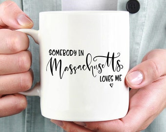 Massachusetts Mug,Massachusetts State,Long Distance Mug,Miss You Mug,Moving Mug,I Love You Mug,I Love My Girlfriend,I Love My Boyfriend