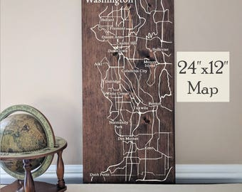 Seattle Map, Large Wood Map, Seattle Wall Art, Seattle Wood Map, Seattle Art, Custom Gift, Personalized Map, Custom City Map by Novel Maps