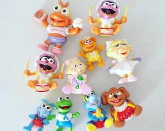 Extremely Rare Set of 10 Vintage Muppet Babies Figures - 1985 - 1986 - Rainbow Toys - Plastic - Jim Henson