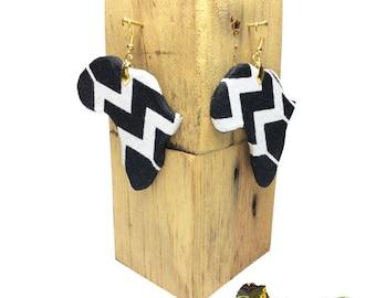 Kente cloth Wax 161 earring