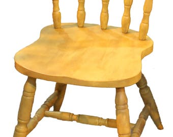 Rustic Yellow Farmhouse Chairs
