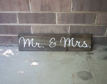 Mr and Mrs, Mr and Mrs Sign, Mr and Mrs Signs, Wedding Sign, Wooden Sign, Rustic Wedding Decor, Bride Groom Sign, Mr Mrs, Wedding Sign, Wood