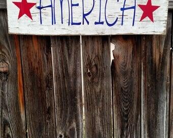 America Salvaged Wood Sign